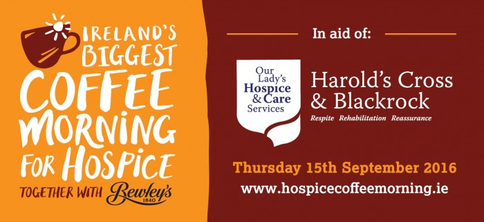 Ireland's Biggest Coffee Morning in aid of Our Lady's Hospice & Care Services
