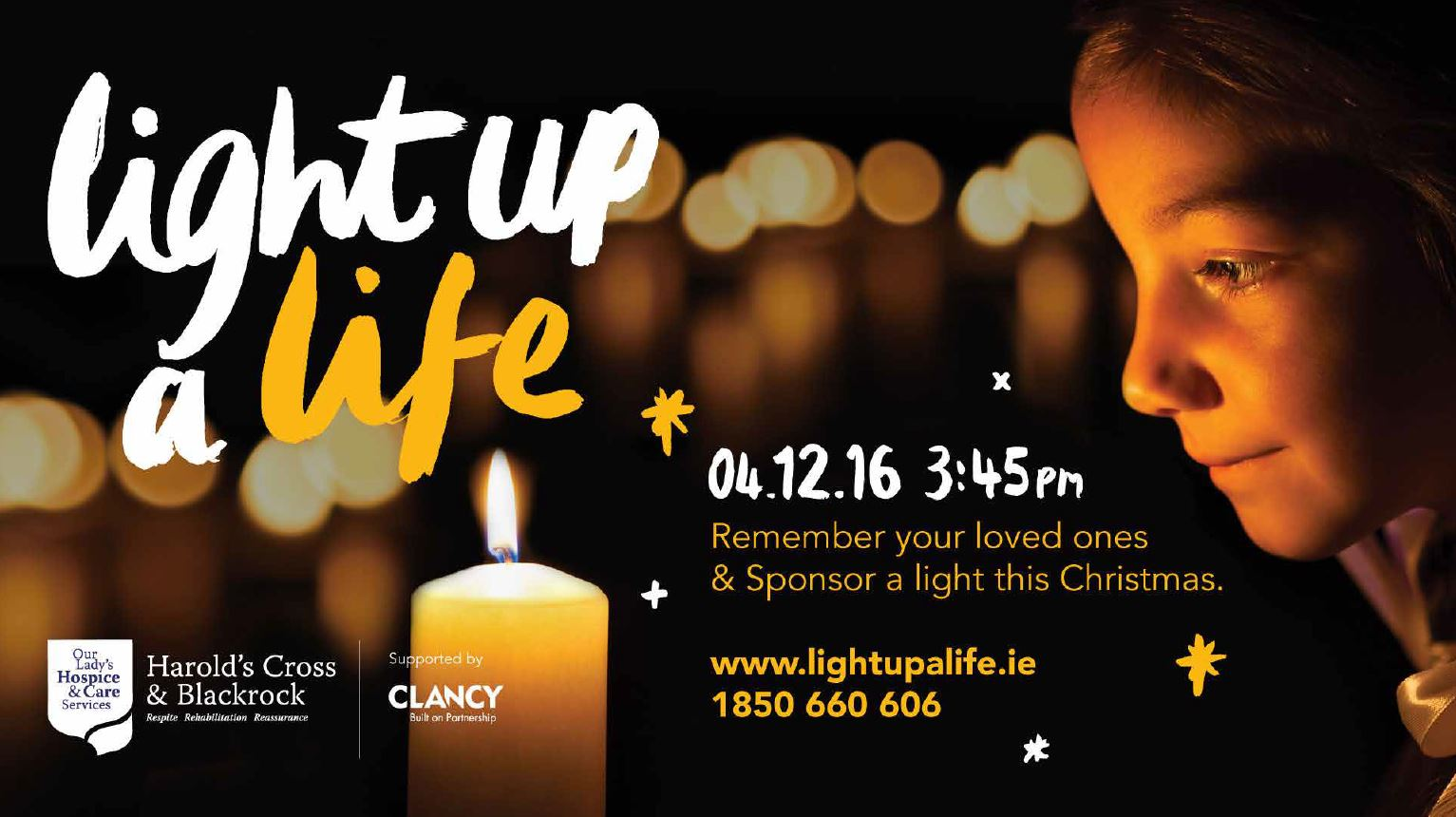 Light Up a Life 2016 homepage slider